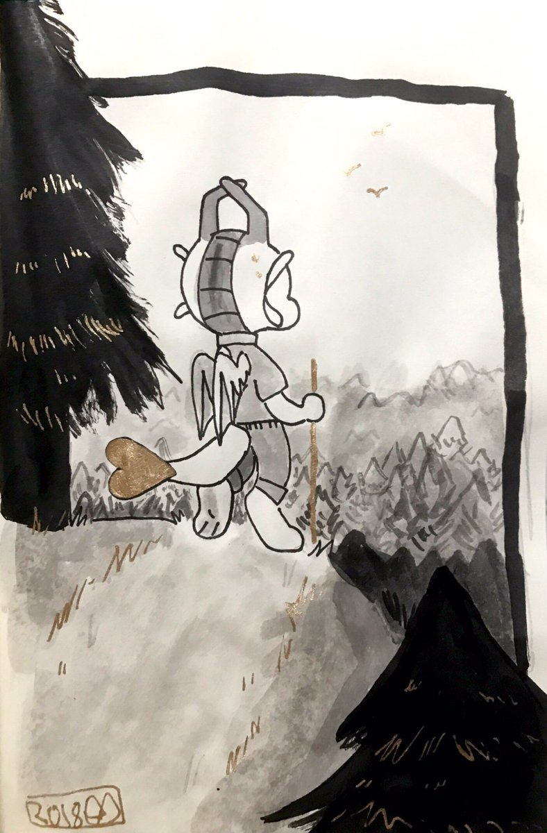 Inktober - Forest by coolartcorner