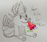 Birthday Gift (party popper emoji) by Razzdrgn