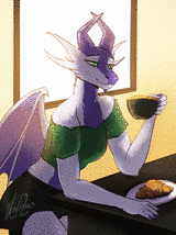 Tea and Croissant by ThisDingo