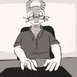 Was One Day In An Office Typing On a Computer (Patreon Reward) by Goattrain