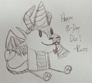 Birthday Gift (no party popper emoji) by Razzdrgn